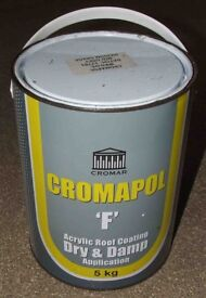 5kg Tin of Cromapol 'F' Roofing Coating