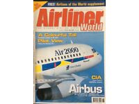 211 ISSUES OF AIRLINER WORLD MAGAZINE FOR SALE