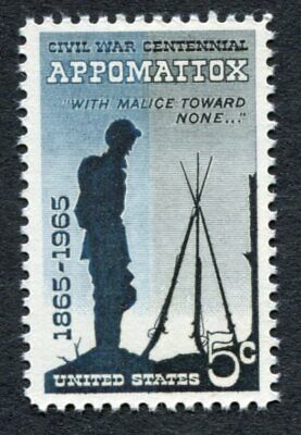 American Civil War APPOMATTOX SURRENDER 1962 Scott 1182 U.S 5-cents MNH/OG 485  - $1.90