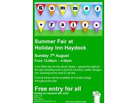 HOLIDAY INN HAYDOCK FAMILY SUMMER FAIR- FREE ENTRY TO ALL SUNDAY 7TH AUGUST