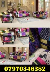 Brand New Anna Patchwork Sofas Cheap Free Delivery 3+2 £749.99 & 3+2+1 £949.99 Bargain