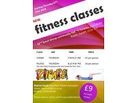 New Zumba/Pilates classes starting Thursday 7th June 2018