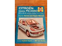 Haynes Manual for Citroen xsara picasso.