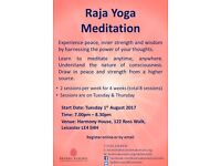 FREE Raja Yoga Meditation Course (Starts 1st August, 7.00pm - 8.30pm)