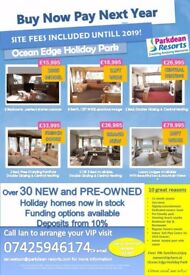 Bargain Holiday Homes at Ocean Edge Holiday Home 12 month Season, Safe and Secure Family Site