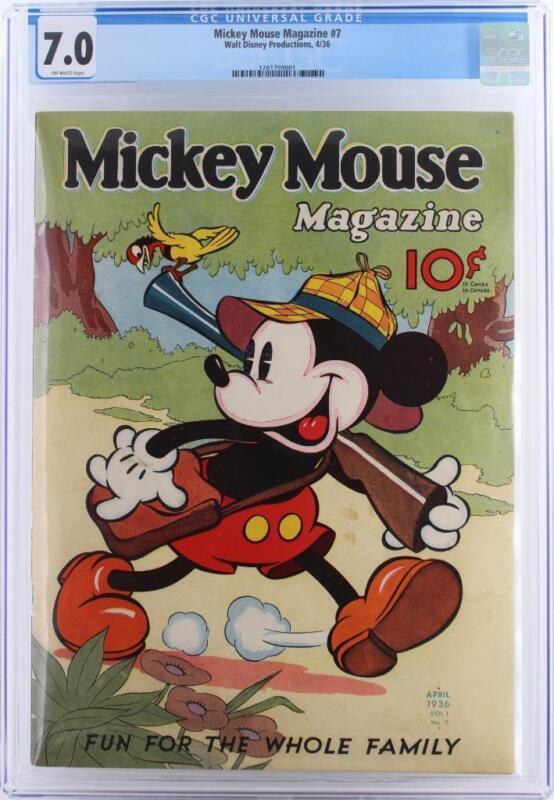 Mickey Mouse Magazine #7 - CGC 7.0 FN/VF - Walt Disney 1936 - HIGHEST GRADE!!!