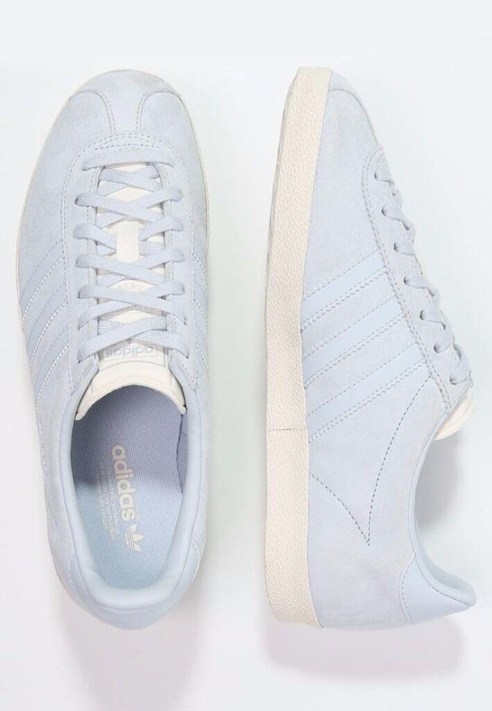 adidas Originals GAZELLE Trainers - baby blue white size 4.5 UK