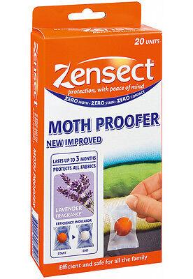 IBA Bouchard Zensect Anti-Moth Repellent Moth Proofer Pack of 20 Fresh Fragrance