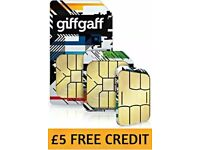 eBay Ad Giffgaff Sims with £5 free credit