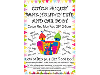Coton Bank Holiday Monday Fete and Car Boot