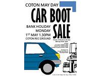 Bank Holiday Monday LAZY CAR BOOT: Coton Rec Ground 1st May 1:30pm