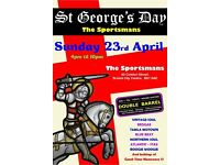 SUNDAY 23rd APRIL – ST GEORGES DAY - MUSIC EVENT@ The Sportsmans - City Centre – DOUBLE BARREL