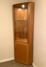 Ercol Windsor Corner Display Cabinet - immaculate condition like new