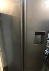 Samsung stainless steel two door frost free water dispencer fridge freezer for sale
