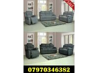 Lazy Boy Recliner Sofa Fabric 3+2 £599 3+2+1 £799 12 Months Warranty Free Delivery 2 Colours Grey