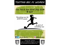 Tooting Bec FC Women - recruiting now for 2018/19 season