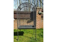 LARGE/ PARROT CAGE AND ACCESSORIES