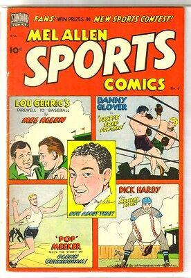Mel Allen SPORTS COMICS #6 Lou Gehrig's Farewell! Standard Comic Book ~ FN