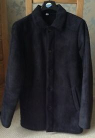 Men's Clothing Black Faux Suede Coat Size Medium