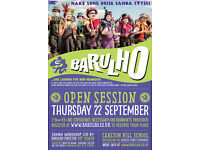 Barulho Open Session. A samba workshop run by Barulho director Pat Power. Thursday 22nd Sept 7pm.