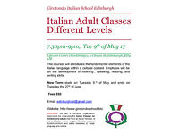 Italian Adult Classes- Different Levels