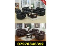 Lazy Boy Recliner Leather Sofas Black Brown Cream Available 3+2 £499 3+2+1 £699 Free Delivery 2 Days