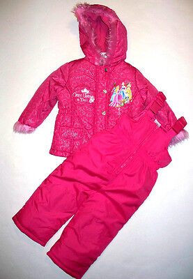 Princess Hooded Winter Snowsuit, Size 3t, W/tag