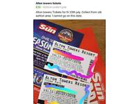 Alton towers tickets 20.7