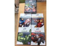 Marvel Avengers set of 4 Books, boxed, Captain America,Thor,Hulk,Iron Man, Good Clean Condition