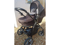 Silver Cross Limited Edition Black Links Pioneer Pram and Pushchair exclusive to John Lewis