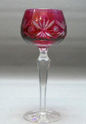 Südweinglas rot überfangen mit sehr schönem Schliff