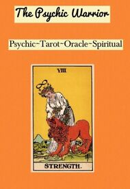 The Psychic Warrior! Tarot & Spiritual Readings. Phone, One to One, Events and Parties.