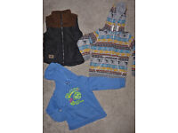 Boys 5-6 years *Bundle of clothes* gilet/bodywarmer, H&M Jumper, Organic Tobey Tiger top, M&S