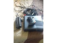 Xbox 360 comes with 1 controller, turtle beach x12 headset, black ops 1, black ops 2, all wires