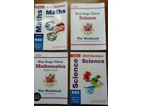 Key Stage 3 Maths & Science - 2 Revision & 2 Workbooks