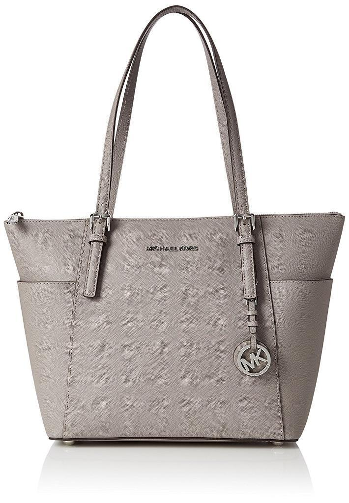 121d7f8baefc MICHAEL KORS (BRAND NEW) With Tags   MK Bag Jet Set Travel Saffiano Leather  Top-Zip Tote