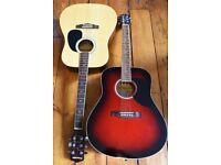 2x Acoustic Guitars - Eko and Phantom