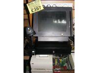 FULL KIT retial supermarket epos corner shop till database cash drawer printer barcode scanner