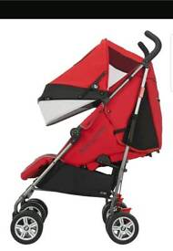 Maclaren BMW used Crimson Red pushchair pram
