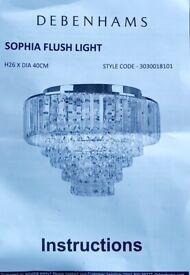 Debenhams Sophia Flush Crystal Ceiling light