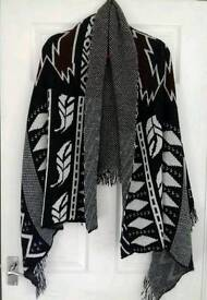 Large knit wrap stole