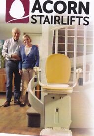 Stair lift by Acorn. Practically brand new . Lift goes over four flights of statrs