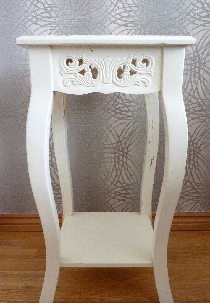 Side table plant stand shabby chic