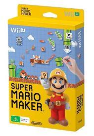 Wii U SUPER MARIO MAKER c/w BOOK.