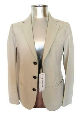 Giorgio Armani Lambskin Leather Jacket RRP £2100 EU46 Small Cream / Stone Blazer