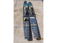 WATERSKIS COMBO PAIR. USE AS SINGLE OR DOUBLE SKIS