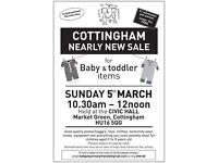 Cottingham Nearly New Baby Sale