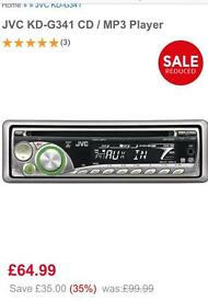 jvc car stereo mp3 aux 50w x 4