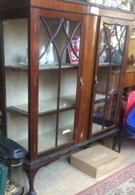 An antique display cabinet