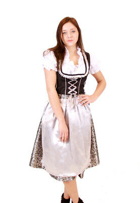 Oktoberfest Volksfest Drindl Bavarian German Beer Girl Blue Maid Costume Dress